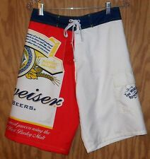Budweiser Board Shorts men's beer swimming trunks - Size M