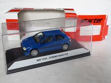 STARTER 1/43 Citroen Saxo VTS 3-Türen 1996–1999 Rally-BLAU AX C2 C3 DS3 OVP T154