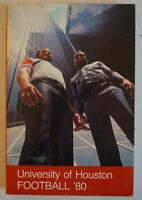 Vintage Football Media Press Guide University Of Houston 1980