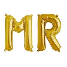 Party Supplies Gold 41cm Foil Letters Balloon 'MR' Wedding Engagement