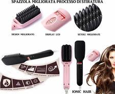 Spazzola elettrica ionica funziona come piastra per capelli lisci Lisciante
