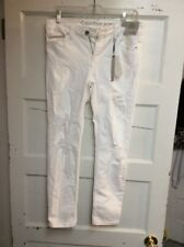 $89.50 Womens calvin klein ankle  distressed jeans skinny w29 h14