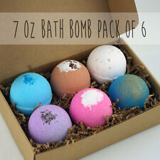 6 pack LARGE 7oz Bath Bomb Lot Fizzy Fizzies Lush Luxurious Organic Great Gift