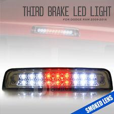Smoked Lens 2009-2017 Ram 1500 LED Rear 3rd Third Brake Light Stop Cargo Lamp