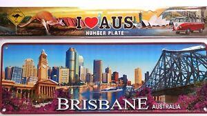 Australia Souvenir Metal Licence Number Plate Brisbane City Design NEW gift idea