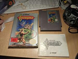Nintendo NES Castlevania Game Cartridge, Box & Booklet