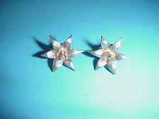 Vintage Sterling Silver Flower Earrings Handmade