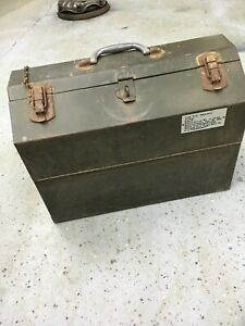 VINTAGE Waterloo Tool Box U.S. Government Type II Size Mil C-3152 no. 395 case