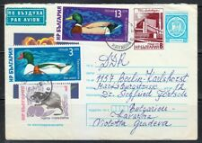 Bulgaria 1976 cover to DDR Germany from Kavarna to Berlin