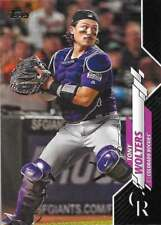 2020 Topps Series 2 Black /69 #387 Tony Wolters - Rockies