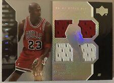Michael Jordan 2006-07 UD Black #3 Game-used Jersey 10 / 99 Upper Deck Bulls