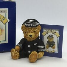 💙 VINTAGE 'PETER FAGAN'S' COLOUR ~ BOX MINI TEDDY BEAR 'SKIPPER' BOXED!
