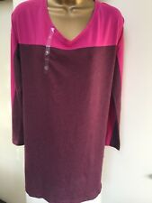 Victoria's Secrets nighty nightshirt Size S small pink/burgundy
