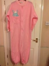 BRAND NEW LADIES ALL IN ONE FLUFFY RABBIT FLEECE NIGHT SUIT SIZE 10-12 RRP £35.0
