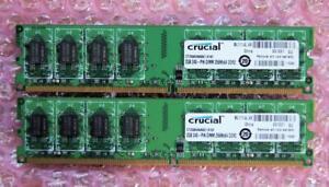 4GB 2 x 2GB Crucial CT25664AA667.K16F DDR2-667 PC2-5300 240-Pin Desktop RAM