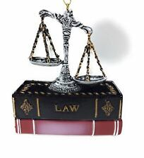 Scales Of Justice With Law Books Ornament Kurt Adler
