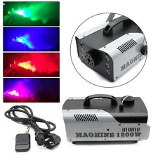 NEBELMASCHINE 1200W 6 x 3W RGB LED LICHT EFFEKT FOG MACHINE DISCO FOGGER 1 L DEU