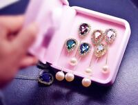 New Muslim Women Hijab Scarf Shawls Pins Abaya Brooch Safety Gemstone Pearl Pins