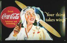 Coca Cola Wings Blechschild Schild 3D geprägt gewölbt Tin Sign 20 x 30 cm