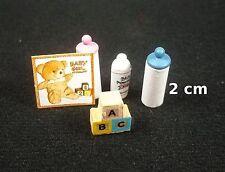 biberon,talc,miniature pour maison de poupée, vitrine,jouets,cubes,bébé 1.12 *S1