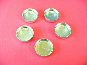 """Fit Ford 5pk 1-5/8"""" Freeze Expansion Plugs Zinc Plated Steel Engine Cylinder NOS"""