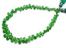 "Natural Gem Faceted Tsavorite 5x3 to 7x5MM Pear Shape Briolettes 9"" Green Garnet"