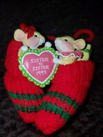 NEW CARLTON CARDS CHRISTMAS HOLIDAY ORNAMENT SISTER TO SISTER 1999 MITTENS
