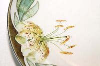 """Weimar Germany Hand Painted 8.5"""" Plate Fine China Lily Gold Edging Vintage EUC"""