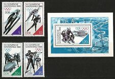 Germany (East) 1988 MNH - Sports - Winter Olympic Games Calgary (set/minisheet)