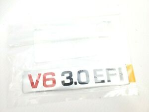 Genuine Toyota V6 3.0 EFI Engine Name Plate Decal 4Runner Pickup T100 87-95