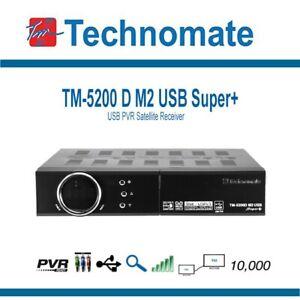 Technomate TM-5200D M2 USB Super+ Satellite Receiver (New In Box)
