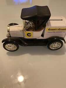 ERTL 1918 Ford Runabout Delivery Car Bank - Coast To Coast - Diecast 1:25 Scale