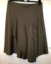NEW QUALITY WAREHOUSE BROWN PIN STRIPE SKIRT SIZE 10 #  937