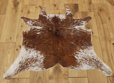 """New Calfhide Rugs Area Cow Skin Leather Cowhide ULG 45762 (32""""X33"""")"""