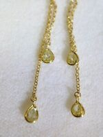 14K Gold Fancy .70CT Natural Light Canary Yellow Pear Diamond Drop Earrings