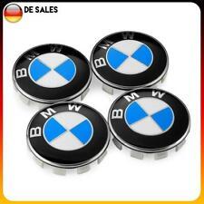4x BMW Nabendeckel Radnaben Abdeckung Blau/Weiß 68mm 6783536 NEU
