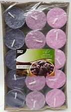 Pack of 30 Quality Mulberry Scented Tea Lights Pink Violet Lilac 100% Stearin