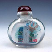 Peking Glass Inside Reverse Hand Painted China Waterfall Snuff Bottle #01021610