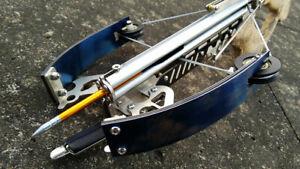 Mini Crossbow V22 With Balls Magazine 2 wings darts Fishing Darts Rapid Fire Toy
