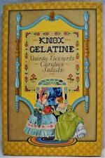 KNOX GELATIN ADVERTISING RECIPES BROCHURE DESSERTS CANDIES SALADS 1931 VINTAGE