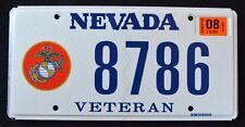 "NEVADA "" U.S. VETERAN -  MARINE CORPS USMC "" NV Military Specialty License Plate"