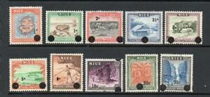 NIUE MNH 1967 SG125-134 DEFINITIVE ISSUE