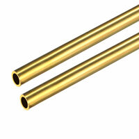 uxcell 2PCS 0.2mm x 0.8mm x 500mm Brass Pipe Tube Round Bar Rod for RC Boat