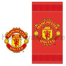 NEW OFFICIAL MANCHESTER UNITED FC FOOTBALL TOWELS BEACH BATH GYM TOWEL SHEET