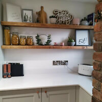 Rustic Wooden Floating Shelf, Chunky Shelving, Floating Shelves, Rustic Shelves