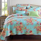 Premium Patchwork Cotton Quilt Bedspread Coverlet Throw Rug-3pcs Queen King Size