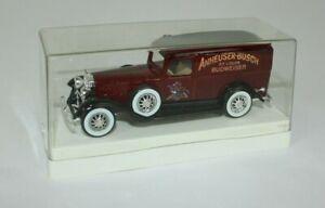 Solido 1/43 1931 Cadillac Anheuser Busch Budweiser Sedan Delivery Van Truck