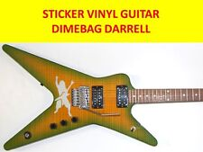 DIMEBAG DARRELL PANTERA  STICKER WHITE GUITAR VISIT OUR STORE WITH MORE MODELS