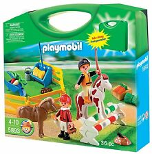 Playmobil #5893 Pony Farm Carrying Case NEW in Box Retired RARE Hard to Find