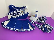 Build-A-Bear (BLUE & WHITE CHEERLEADER Uniform TOP/SKIRT Outfit W/ Accessories